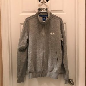 Adidas zip up sweatshirt jacket/pockets size large